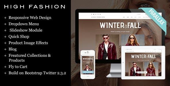High Fashion-Clothing Theme