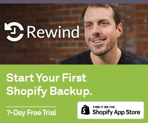 Rewind - Shopify backup