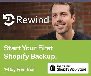 Rewind - Shopify backup