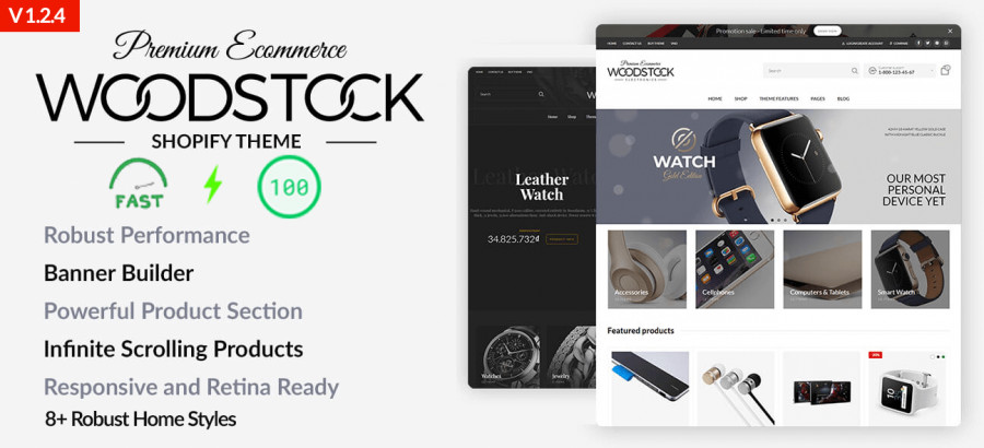 Woodstock - Electronics Shopify Sections Theme